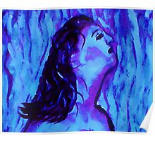 Blue, watercolor Poster