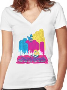 The Big Sleep @ SXSW Women's Fitted V-Neck T-Shirt