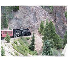 Vintage Locomotive, Cumbres-Toltec Narrow-Gauge Railroad, Chama, New Mexico Poster