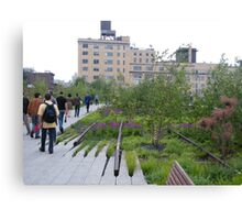 High Line View, New York's Elevated Garden and Walking Path Canvas Print