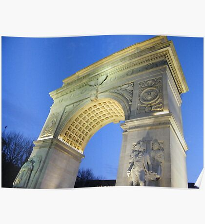 Washington Square Arch at Dusk, New York Poster