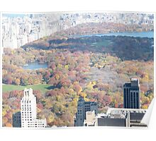 Central Park, Fall View, As Seen from Top of the Rock Observation Deck, New York Poster
