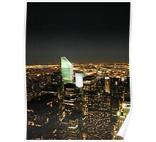 Manhattan, Queens Nighttime View, As Seen from Top of the Rock Obvservation Deck, New York  Poster