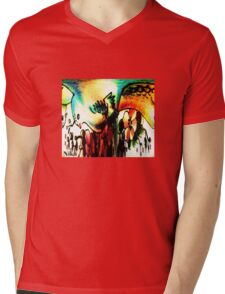 Bird of paradise Mens V-Neck T-Shirt