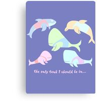 Pastel Whales - save the whales! Canvas Print