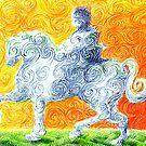 he rides a white horse by Matthew Scotland