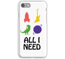 All I Need (Planet, Dinosaur, Rocket, Guitar) iPhone Case/Skin