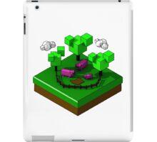 Isometric island frame - Pig iPad Case/Skin