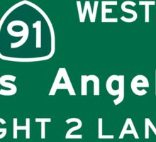 Los Angeles, CA Road Sign, USA Sticker
