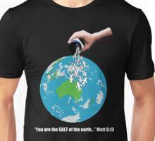 SALT - White Text Unisex T-Shirt