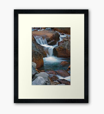 Silky Spill From Below Mirror Lake Framed Print