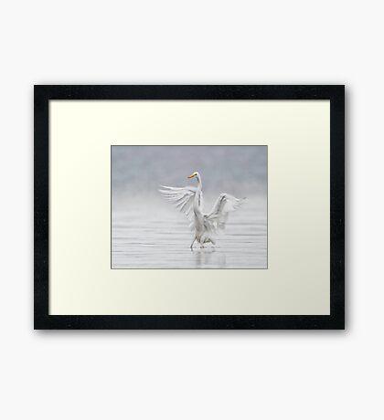 Landing in the Fog Framed Print