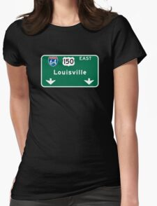 Louisville, KY Road Sign, USA Womens Fitted T-Shirt