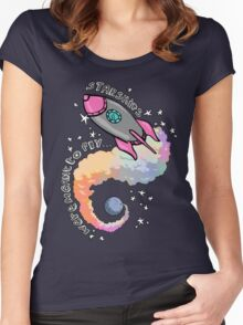 Starships Were Meant To Fly! Women's Fitted Scoop T-Shirt