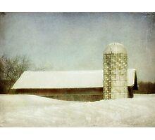 Once we had snow Photographic Print