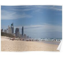 Summer on the Beach Surfers Paradise Queensland Poster