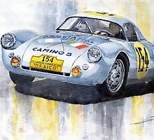 Porsche 550 Coupe #154 Carrera Panamericana 1953 by Yuriy Shevchuk