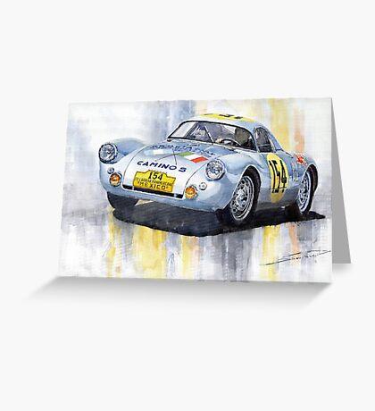 Porsche 550 Coupe #154 Carrera Panamericana 1953 Greeting Card