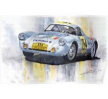 Porsche 550 Coupe #154 Carrera Panamericana 1953 Poster
