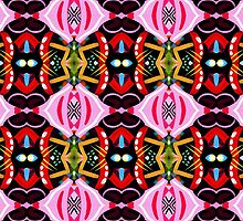 Pink Abstract Pattern by Lisa V Robinson