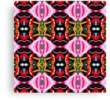 Pink Abstract Pattern Canvas Print
