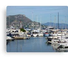 Marina On Cap Ferrat Canvas Print
