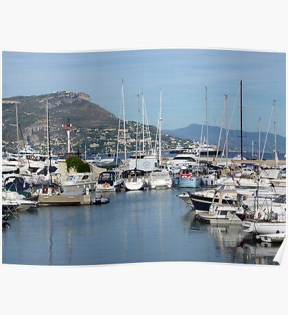 Marina On Cap Ferrat Poster