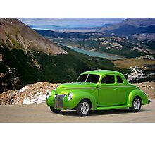 1940 Ford Lime Green Coupe Photographic Print