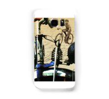 digital RETRO CYCLING print with calligraphy Samsung Galaxy Case/Skin