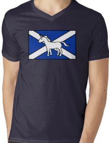 Unicorn, Scotland's National Animal Mens V-Neck T-Shirt