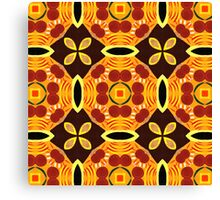 60's Abstract Pattern Canvas Print