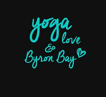 yoga, love & Byron Bay Women's Fitted Scoop T-Shirt