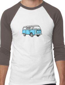 Bay Window Campervan Blue Men's Baseball ¾ T-Shirt