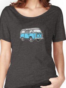Bay Window Campervan Blue Women's Relaxed Fit T-Shirt