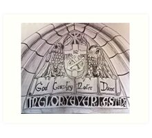 God, Country, Notre Dame Art Print
