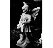 Angel with flowers Photographic Print
