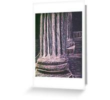 Grecian Columns Greeting Card