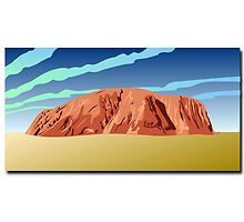 Uluru,  Ayers Rock in australia outback by nadil