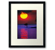 Fireball Bali Sunrise Framed Print