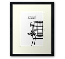 Modern Mid Century Chair Art Classic 1952 Steel Framed Print
