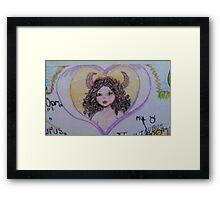 iltle Taurus fairy Framed Print