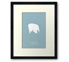 Modern Mid Century Chair Art Classic Eames Elephant Framed Print