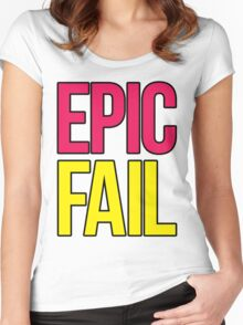 Epic Fail (magenta/yellow) Women's Fitted Scoop T-Shirt