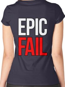 Epic Fail (white/red) Women's Fitted Scoop T-Shirt