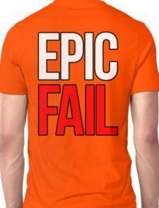 Epic Fail (white/red) Unisex T-Shirt