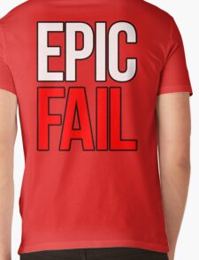 Epic Fail (white/red) Mens V-Neck T-Shirt