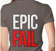 Epic Fail (white/red) Womens Fitted T-Shirt