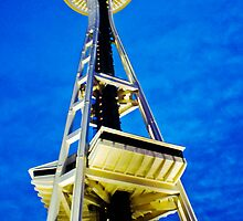 Space Needle from the ground up Seattle  WA USA by Uri Z. Fogel