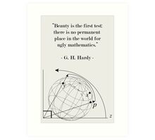 Science Art Math Quote Art Print