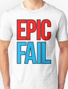 Epic Fail (red/sky blue) Unisex T-Shirt